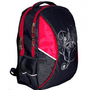 Рюкзак с гимнасткой черный/розовый
